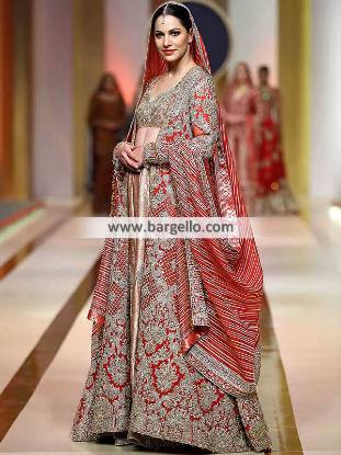 The Classic Red Lehenga, Bridal Couture Week, QHBCW, Bridal Lehenga, Pakistani Bridal Lehenga, Pakistani Wedding Dresses