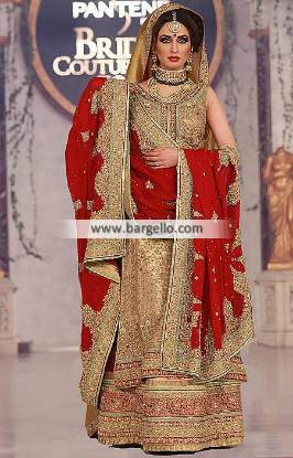 Pakistani Bridal Lengha, Bridal Lengha Katy, Bridal Lengha Texas, Bridal Lengha USA, Designer Mehdi, Mehdi Bridal Wear, Mehdi Wedding Dresses, Designer Mehdi Collection, Lehenga, Sharara, Gharara