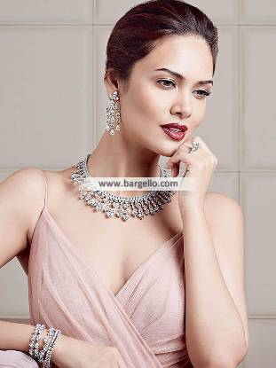 Artificial Diamond Necklace, Diamond Necklace Jewellery, Artificial Diamond Jewellery Set, Artificial Diamond Earring, Hazoorilal Diamond Sets, Hazoorilal Jewellery Sets