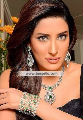 Diamond Necklace, Diamond Necklace Set, Diamond Earrings, Emerald and Diamond Necklace, Necklace Pakistan, Diamond set Pakistan, Diamond Jewellery Pakistan, Artificial Jewellery Sets, Afzal Jewelers