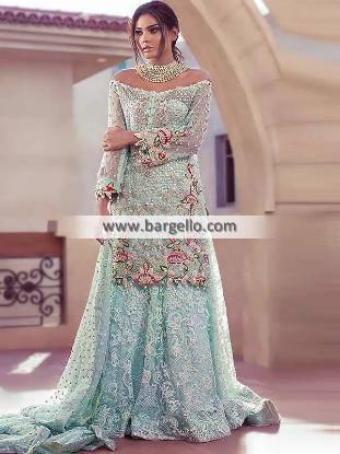 Picture of Columbia Blue Fleur Sharara Dress