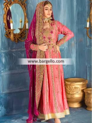 Latest Angrakha Suits USA Deerfield Illinois Wedding Dresses Pakistan