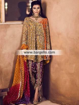 Angrakha Style Dresses USA Miami Florida Designer Angrakha Style Dress Designs