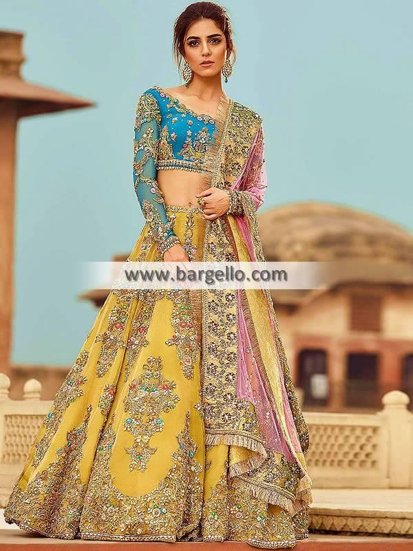 Pakistani Bridal Lehenga Choli USA Artesia California CA Designer Lehenga Choli