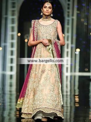 Floor Length Pakistani Bridal Dress Sacramento California Bridal Dress For Walima