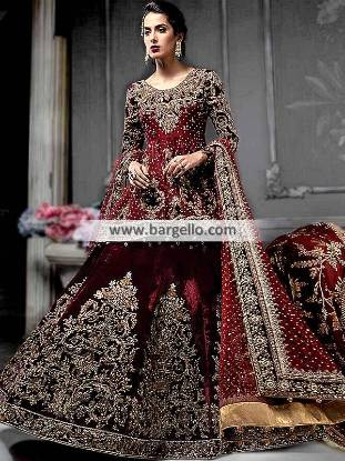 Bridal Peplum Shirt Perth Australia Designer Peplum Dress for Walima Pakistan