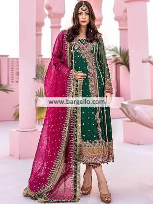 Latest Angrakha Dresses Bolton UK Pakistani Wedding Dresses