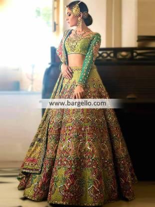 Charming Green Lehenga Wedding Dresses Lehenga Designer Wedding Dresses