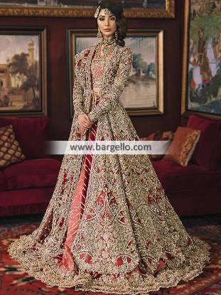 Luxurious Bridal Lehenga UK USA Canada Republic Heritage Bridal Lehenga