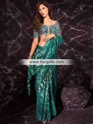 Designer Party Wear Saree Troy Michigan US Mahgul Saree Collection Kohinoor