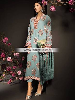 Arabian Clothes Mahgul Jewels of Summer Collection Pakistani Evening Dresses
