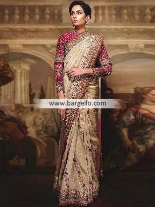 Latest Designer Saree for Wedding Fahad Hussayn Qilladari Saree Collection