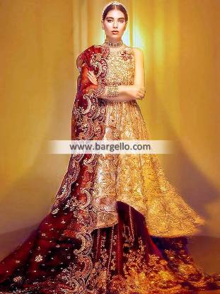 Anarkali Bridal Dresses Manhattan New York USA Traditional Bridal Lehenga Dresses
