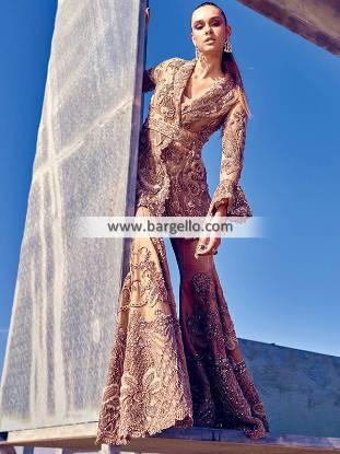 Bridal Sharara Pakistan Elan Sharara for Newlyweds Wedding Dresses