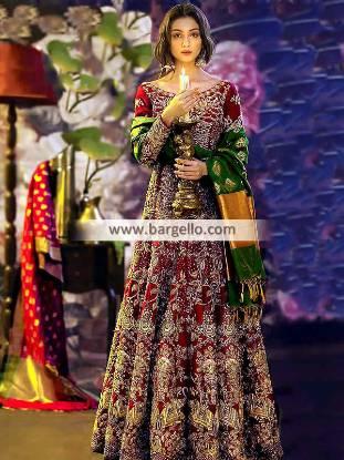 Classy Bridal Gown Coral Spring Florida USA Pakistani Designer Bridal Wear