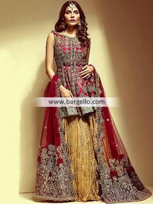 Auspicious Wedding Sharara Fremont California CA USA Wedding Dresses