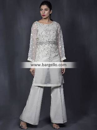 Indian Pakistani Evening Trouser Suits Sunnyvale California CA USA Latest Evening Suits