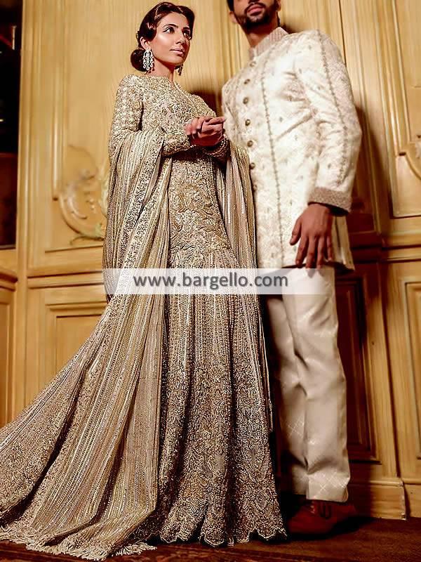 Off-White Bridal Gown Toronto Canada Faraz Manan Viceroy Collection 2017