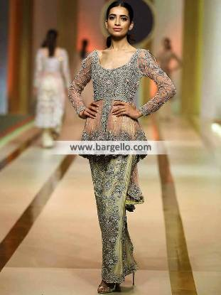 Indian Peplum Dresses, Pakistani Peplum Dresses, Peplum Dresses, Peplum Dresses Winnipeg, Peplum Dresses Manitoba, Peplum Dresses Canada, Ahmed Sultan, QHBCW, Ahmed Sultan Formal Collection