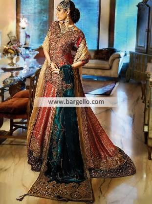 Luxurious Bridal Lehenga for Barat Pakistani Wedding Dresses for Barat