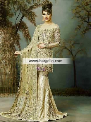 Designer Wedding Sharara Stylish Pakistani Bridal Dresses