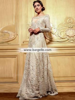 Designer Off-White Wedding Gown Faraz Manan Wedding Dresses Pakistan