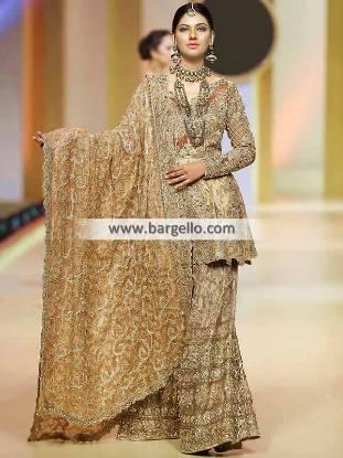 Peplum Wedding Dress Pakistani Wedding Dresses Peplum Top with Sharara
