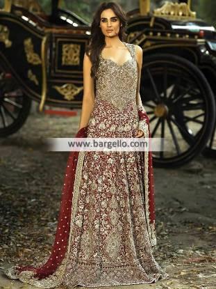 Designer Mehdi Wedding Dresses Pakistan Latest Bridal Anakali Suits for Wedding