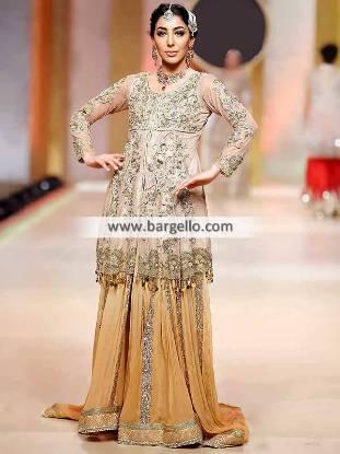Asian Wedding Sharara Woking London UK Pakistani Wedding Dresses