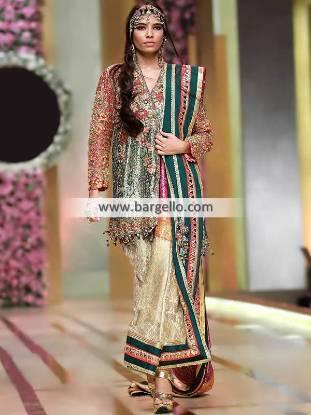 Angrakha Style Trouser Suit Birmingham UK Wedding Guest Dresses Pakistan