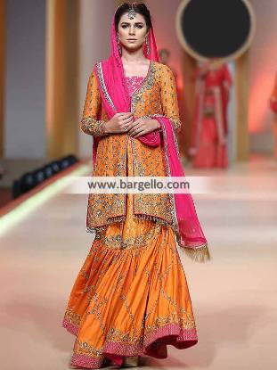 Exclusive Wedding Gharara Kingston UK Desi Dhaka Pajama Dress for Special Event