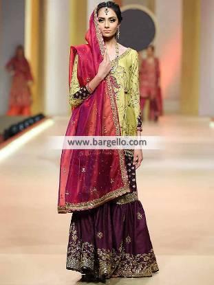Designer Angrakha Dresses Kingston UK Special Occasion Dresses Pakistan Overlap Style