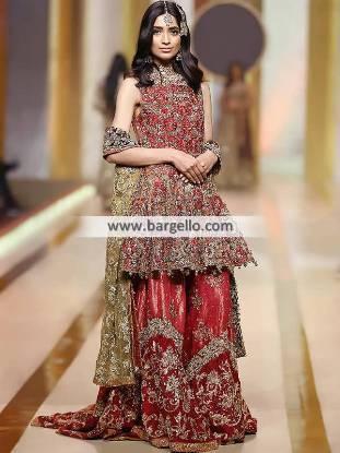 Designer Wedding Gharara Surrey UK Wedding Dresses Pakistan