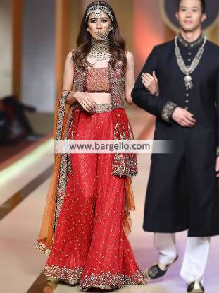 Bridal Wedding Sharara Bridal Dresses Pakistan Bridal Outfit Pakistani Ajman UAE