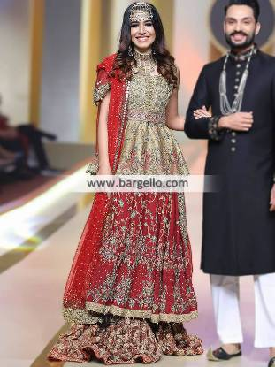 Anarkali Bridal Wedding Lengha Bridal Wedding Lenghas Abu Dhabi UAE