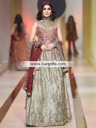 Designer Bridal Lenghas Bell Bar UK Designer Pakistani Bridal Lengha