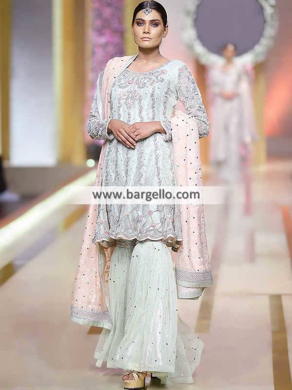 Pakistani Formal Wear Alexandria Virginia USA Gharara for Next Wedding Function