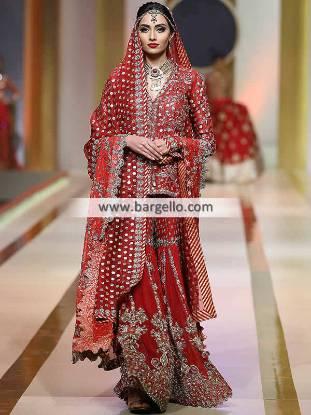 Pakistani Designer Bridal Gharara Arlington Washington USA Traditional Bridal Gharara