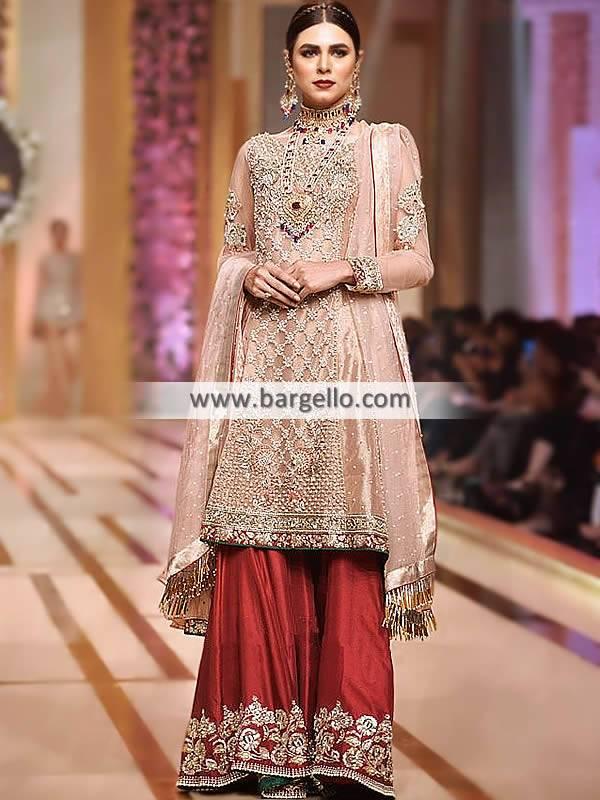 Pakistani Wedding Dresses Georgetown Texas TX USA Sharara Suit for Wedding Events