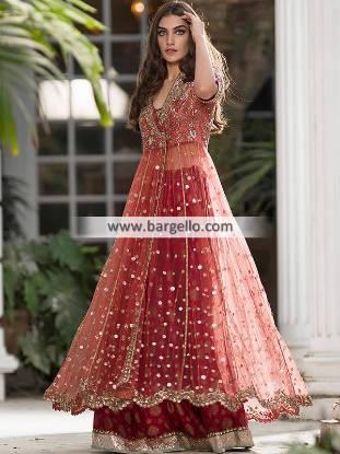 Latest Angrakha Style Dresses Designer Angrakha Style Salwar Kameez Sacramento California CA USA