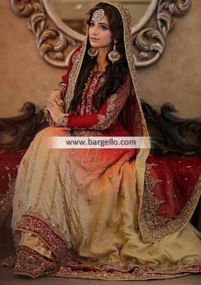 Traditional Bridal Anarkali Suits Pennsylvannia PA USA Bridal Lehenga Pakistan