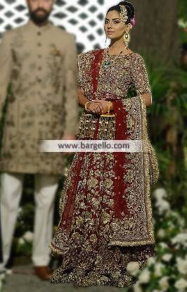 Traditional Pakistani Bridal Dresses Bolingbrook Illinois USA Elan Bridal Lehenga