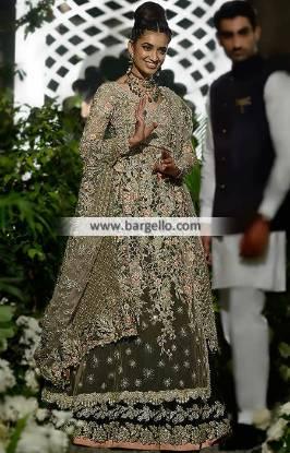 Elan Wedding Dresses Palai Indochine Puffy Lehenge by Elan Designer