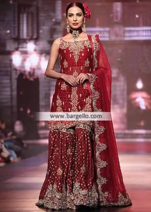Breathtaking Traditional Wedding Dresses San Francisco California CA USA Wedding Gharara Pakistan