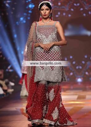 Pakistani Designer Wedding Sharara Jeddah Saudia Arabia Riyadh Wedding Sharara Pakistan