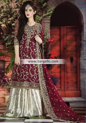 Latest Pakistani Bridal Lehenga Dresses Jackson Heights New York NY USA
