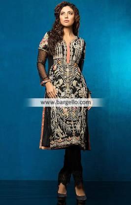Black Color Embroidered Dresses Dubai UAE