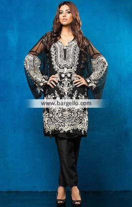 Embroidered Black Color Dresses Imra