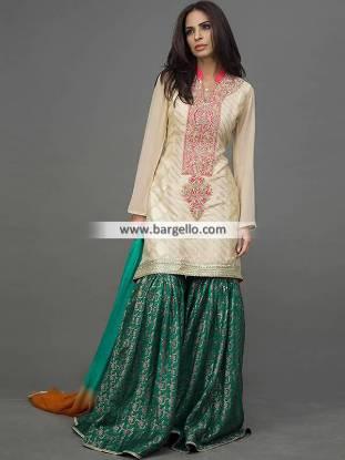 Banarasi Jamawar Gharara Dresses Alexandria Virginia VA US