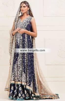 Pakistani Designer Wedding Sharara Dresses Manhattan New York USA